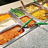 foto of buffet catering  - Catering buffet with a variety of vegetarian food. ** Note: Soft Focus at 100%, best at smaller sizes - JPG