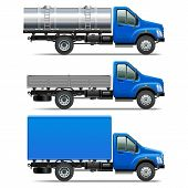 foto of tank truck  - Lorry Icons Set 2 including three trucks of various modifications isolated on white background - JPG