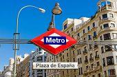 Постер, плакат: Metro Plaza De Espana