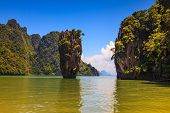 stock photo of james bond island  -  The tourist season in Thailand - JPG
