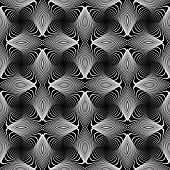 image of distort  - Design seamless monochrome whirl lines background - JPG