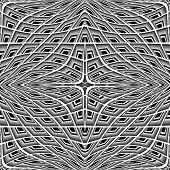 picture of quadrangles  - Design monochrome warped grid pattern - JPG