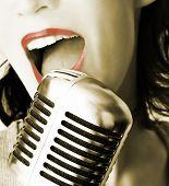 Retro Singer poster