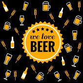 pic of guinness  - Beer vector icons background  - JPG