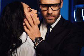 stock photo of office romance  - Couple close - JPG