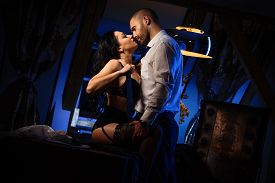 pic of office romance  - Couple indoors - JPG