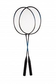 pic of shuttlecock  - Badminton rackets and shuttlecock isolated on white background