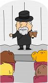 stock photo of rabbi  - Illustration of a Rabbi at Work - JPG
