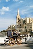 Horsedrawn Cart In Valetta Malta