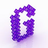 picture of g-spot  - Dice font letter G - JPG