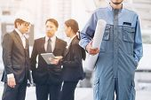 Group Of Engineer And Business People poster
