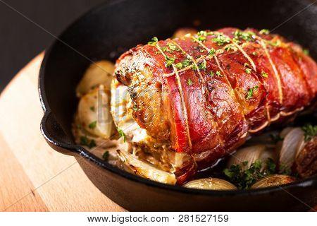 Food Concept Homemade Bacon Stuffed