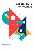 Abstract Colorful Geometric Shape Layout Design Template Poster Background Modern Art Style. Design  poster