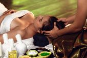Thai Girls Therapist Body Spa Massage And Lying Relaxation In Business Massaging And Salon Shop., Pr poster