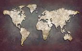 Creative world map poster