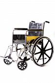 picture of medical equipment  - A isolated wheelchair - JPG