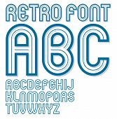 Set Of Vector Bold Upper Case Alphabet English Alphabet Letters Isolated, Can Be Used In Retro Poste poster