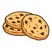 Homemade Cookie Icon. Hand Drawn Illustration Of Homemade Cookie Vector Icon For Web Design poster