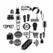 Tourist Shop Icons Set. Simple Set Of 25 Tourist Shop Icons For Web Isolated On White Background poster
