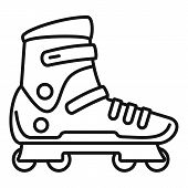 Extreme Sport Inline Skates Icon. Outline Extreme Sport Inline Skates Vector Icon For Web Design Iso poster