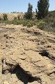 pic of pyrite  - Detail of polluted riverbed of Mosteirao downstream abandoned pyrite mine of S - JPG
