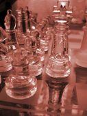 Постер, плакат: Стекло шахматы игра