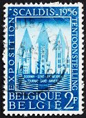 Postage stamp Belgium 1956 Buildings of Tournai, Ghent and Antwerp