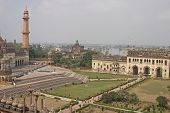 stock photo of imambara  - Landscaped gardens inside the 18th Century Bara Imambara complex in Lucknow Uttar Pradesh India