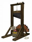 stock photo of guillotine  - Toon Turkey Guillotine - JPG