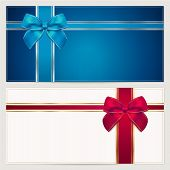 image of blank check  - Gift card template with corrugated texture - JPG
