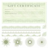 stock photo of blank check  - Gift certificate  - JPG