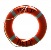 Life Preserver mit Hilfe Word - Isolated On White