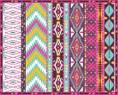 foto of aztec  - Seamless colorful aztec geometric pattern with arrow - JPG