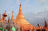 foto of yangon  - Beautiful view of Shwedagon golden pagoda in Yangon Myanmar  - JPG