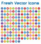 Fresh Vector Icons (circle Version II)