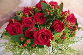 picture of red rose flower  - bouquet of red roses - JPG