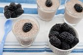 picture of cinnamon  - Chia Pudding with blackberries and cinnamon for breakfast - JPG