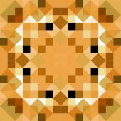 image of tangram  - seamless texture of beown glossy squares in a symmetric pattern - JPG
