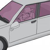 Постер, плакат: Undercover Cop In Car