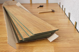 foto of laminate  - Several of laminated panels the color of the wood - JPG