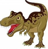foto of tyrannosaurus  - Vector illustration of angry tyrannosaurus isolated on white - JPG