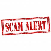 Постер, плакат: Scam Alert stamp