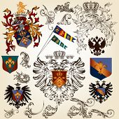 picture of winged-horse  - Vector set of luxury royal vintage elements for your heraldic design - JPG