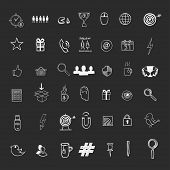 image of hashtag  - Hand draw social media sign and symbol doodles elements - JPG
