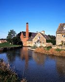 foto of slaughter  - Watermill on the River Eye Lower Slaughter Gloucestershire Cotswolds England UK Western Europe - JPG