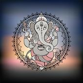 picture of hindu-god  - Hindu God Ganesha - JPG