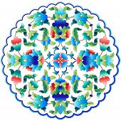 picture of ottoman  - Versions of Ottoman decorative arts abstract flowers - JPG
