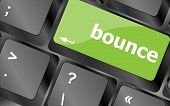 stock photo of bouncing  - bounce button on computer pc keyboard key - JPG