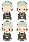 stock photo of cult  - Buddhist monasticism cartoon japanese - JPG