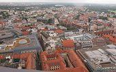 pic of leipzig  - Aerial view of the city of Leipzig in Germany - JPG